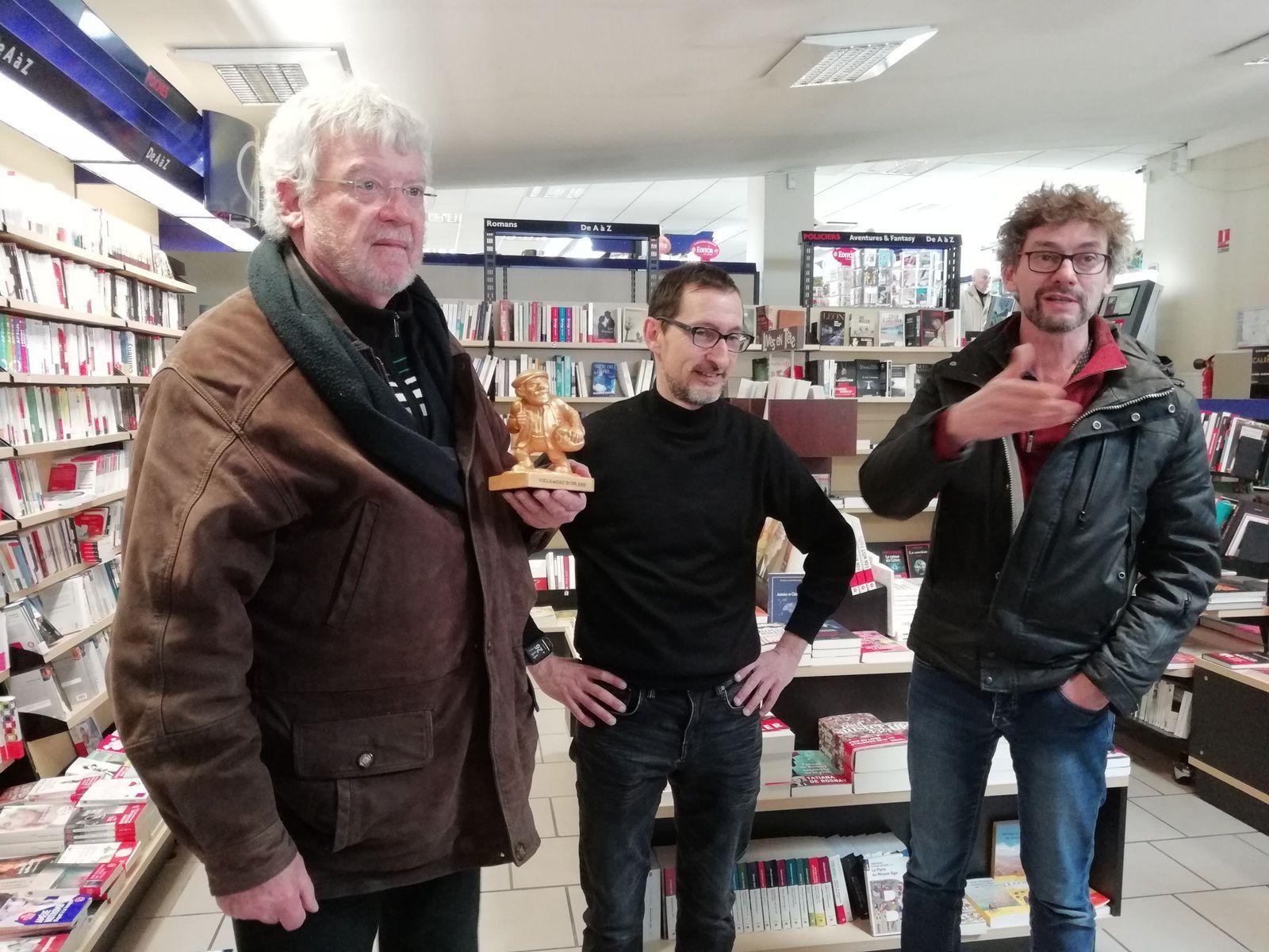 Le Villemont d'or 2018 du meilleur libraire à Jean Catinaud