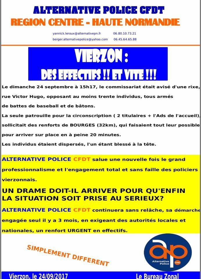 Deux agressions au commissariat de Vierzon en cinq mois !