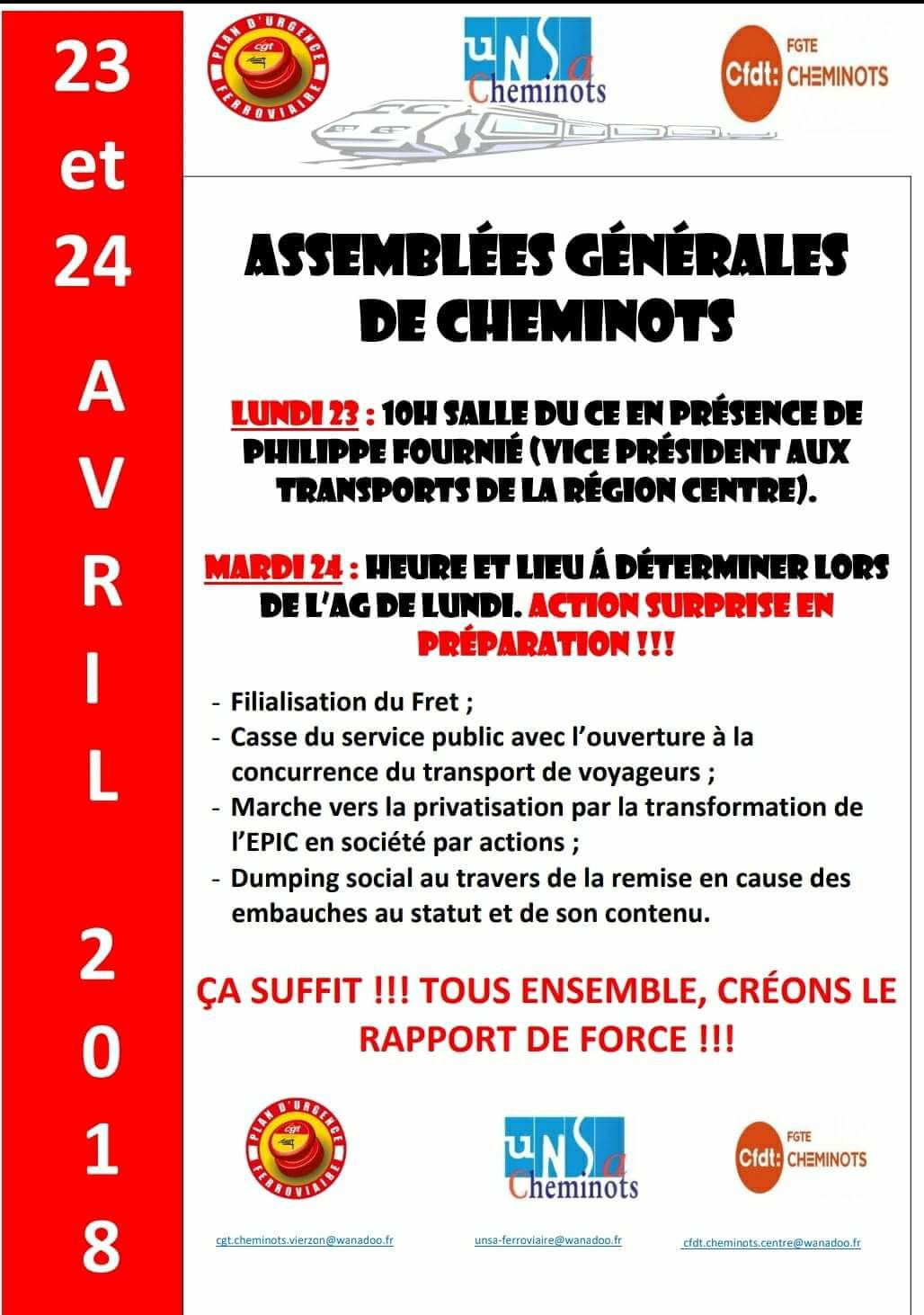 Philippe Fournié, vice président aux transports rendra visite aux cheminots en grève