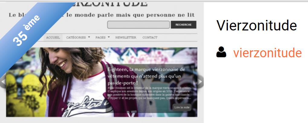 Vierzonitude, 35è blog sur... plus de 99.000 !