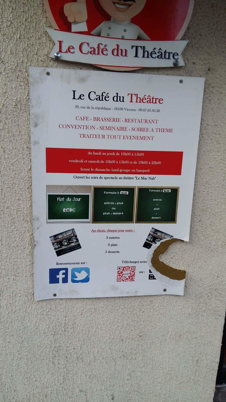 Vandalisme contre le Café du Théâtre