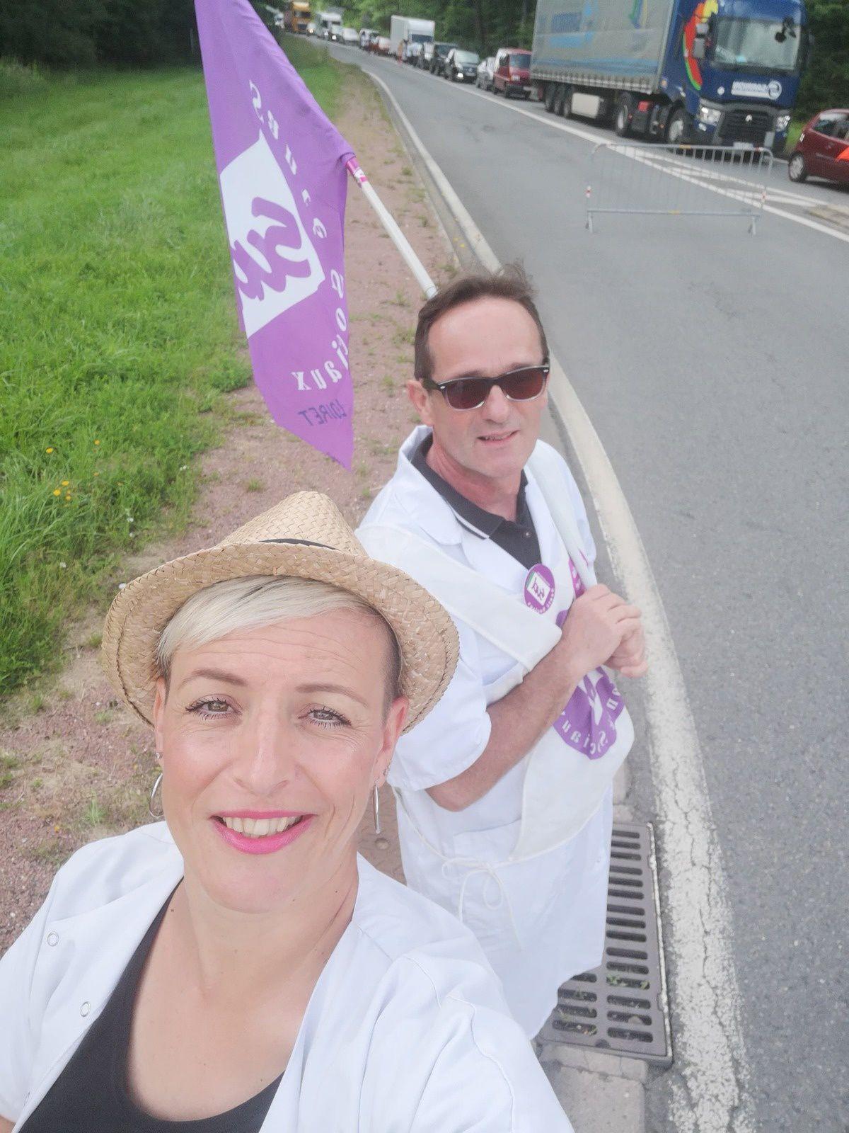 Hôpital : le blocage de la route de Paris a commencé !