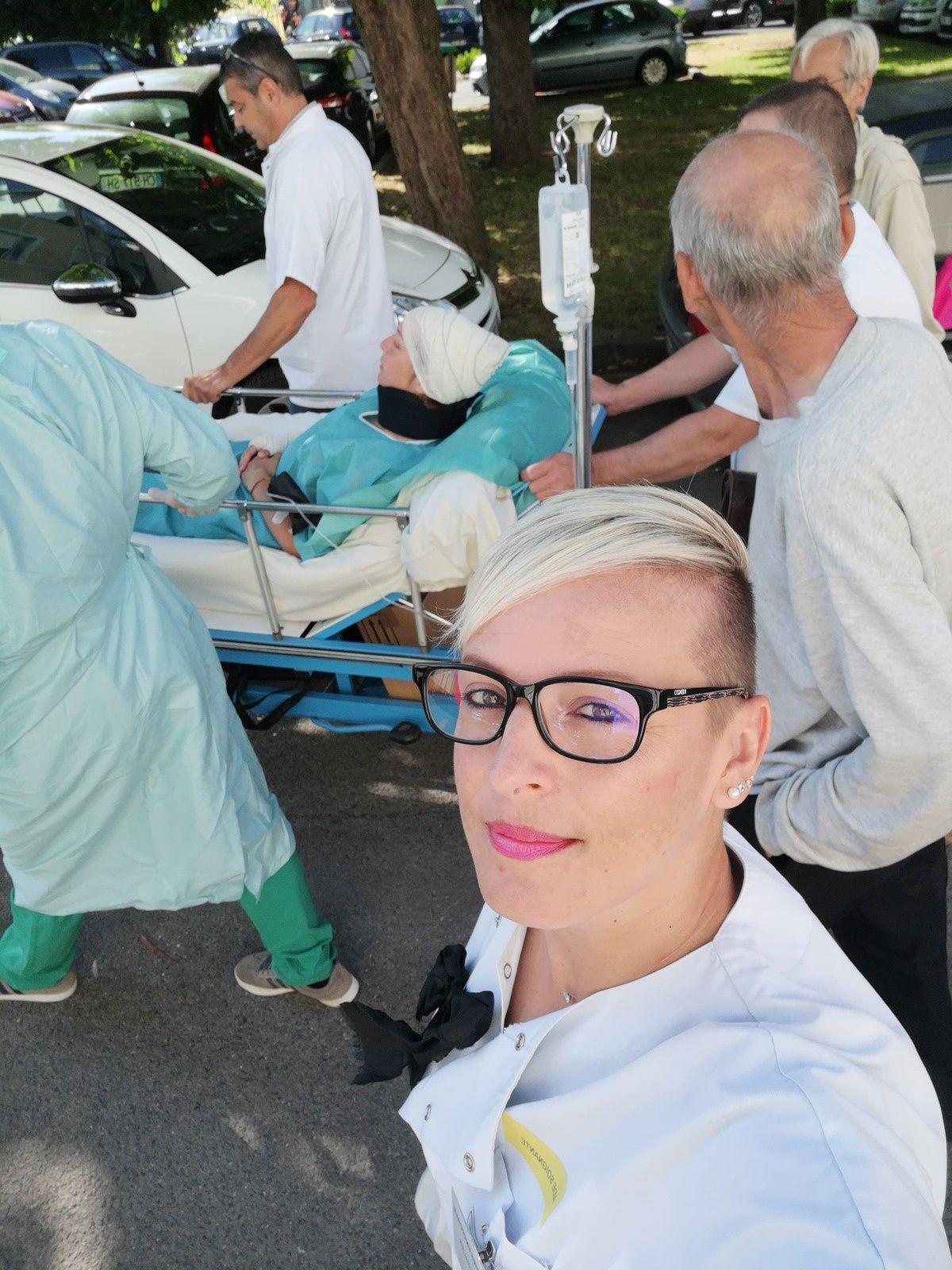 Hôpital : brancardage fictif jusqu'aux Forges !