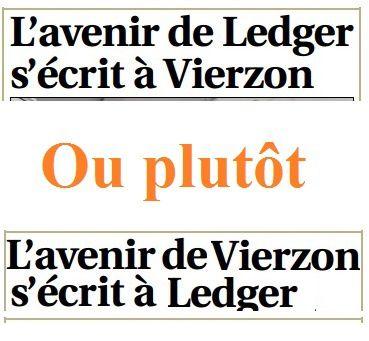 L'avenir de Vierzon se joue à Ledger