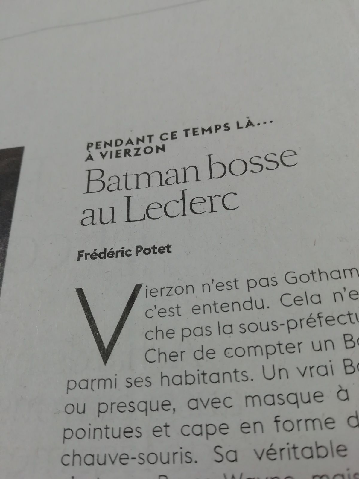 T'as voulu voir Vierzon et tu as vu Batman !