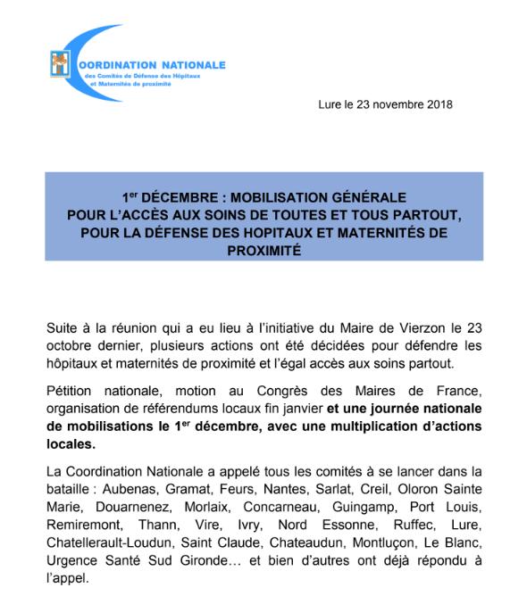 Hôpital : les gilets jaunes invités à la mobilisation du 1er décembre