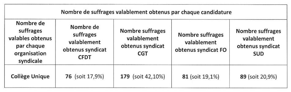Elections professionnelles à l'hôpital : les résultats complets