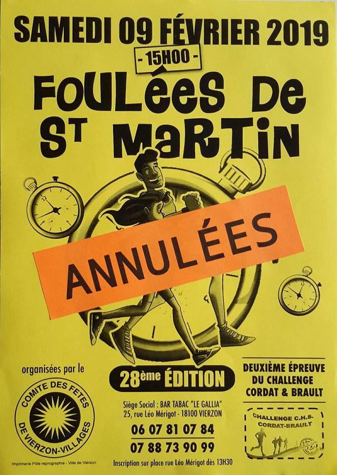 Les foulées de Saint-Martin annulées... faute de bénévoles