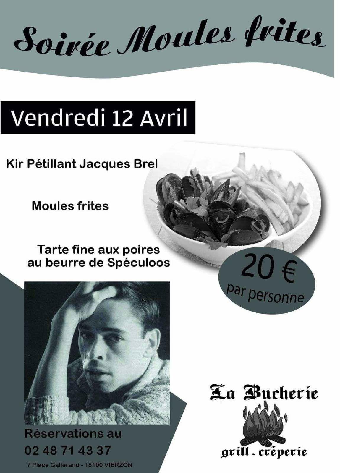 Le restaurant la Bûcherie consacre un menu aux 90 ans de Jacques Brel ce vendredi 12 avril