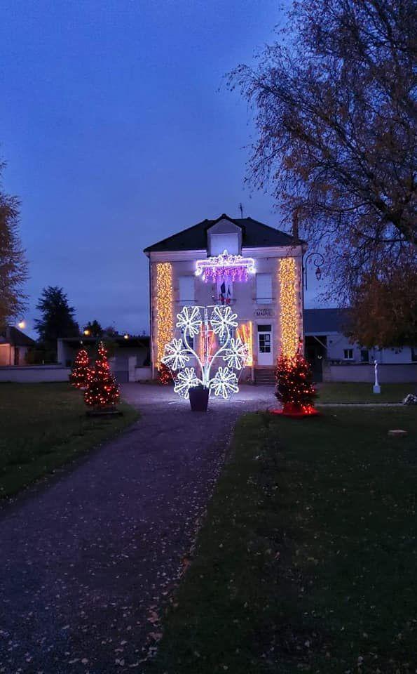 Chéry a installé ses décorations de Noël