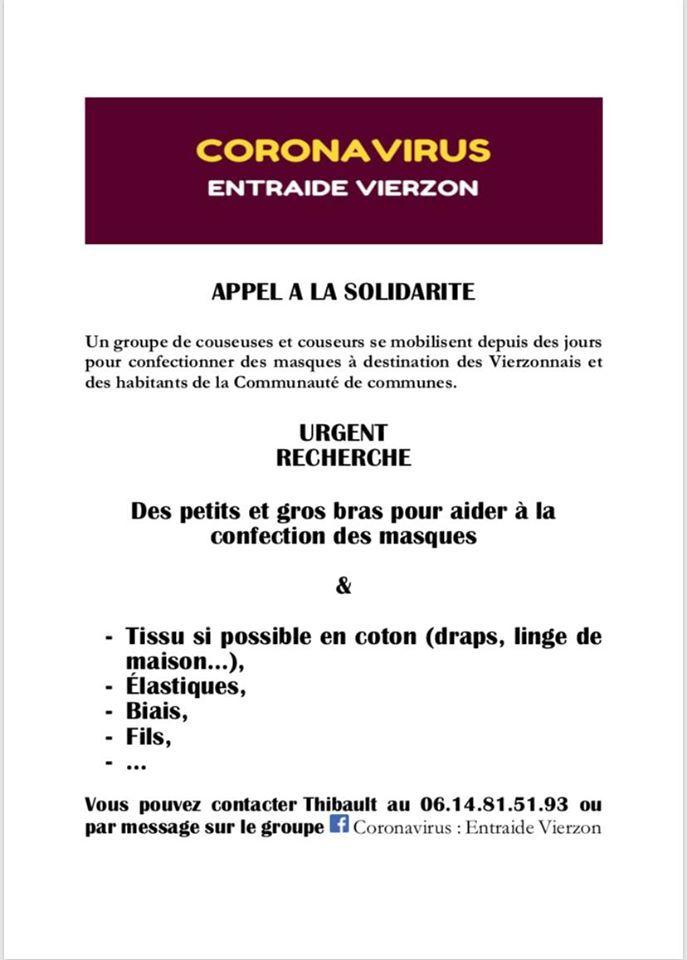 Coronavirus, entraide Vierzon :  les bénévoles fabriquent des masques