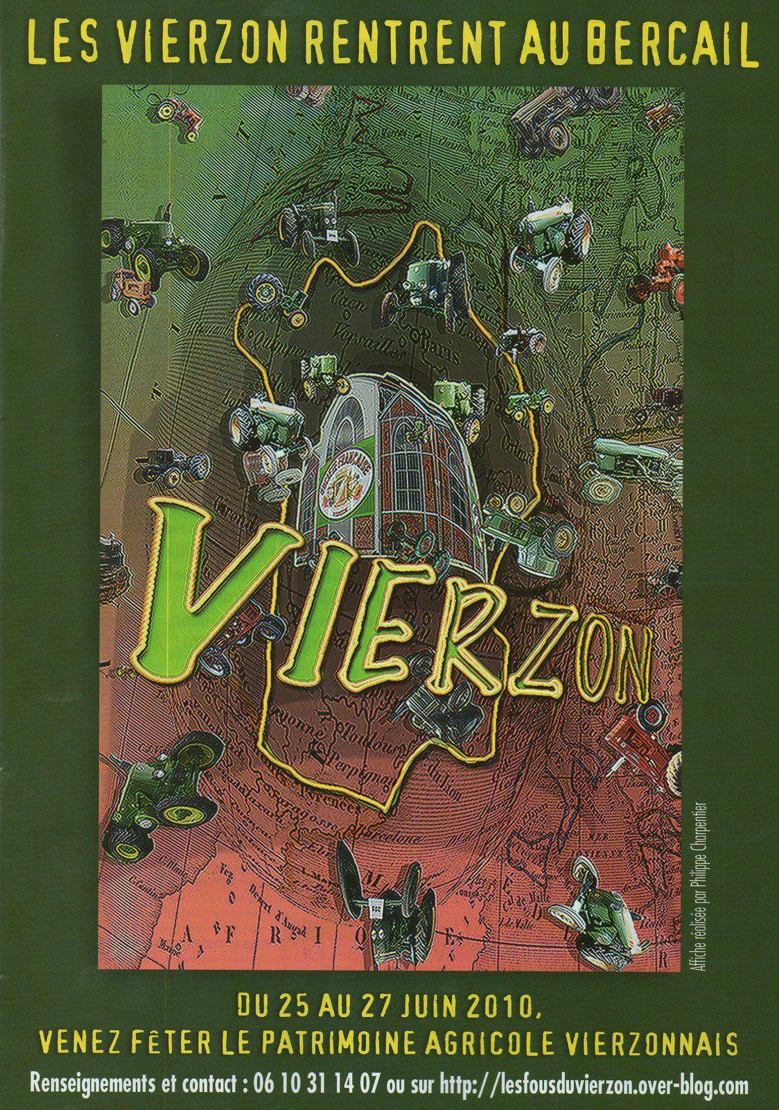 La carte postale impossible : Vierzon-sur-tracteur