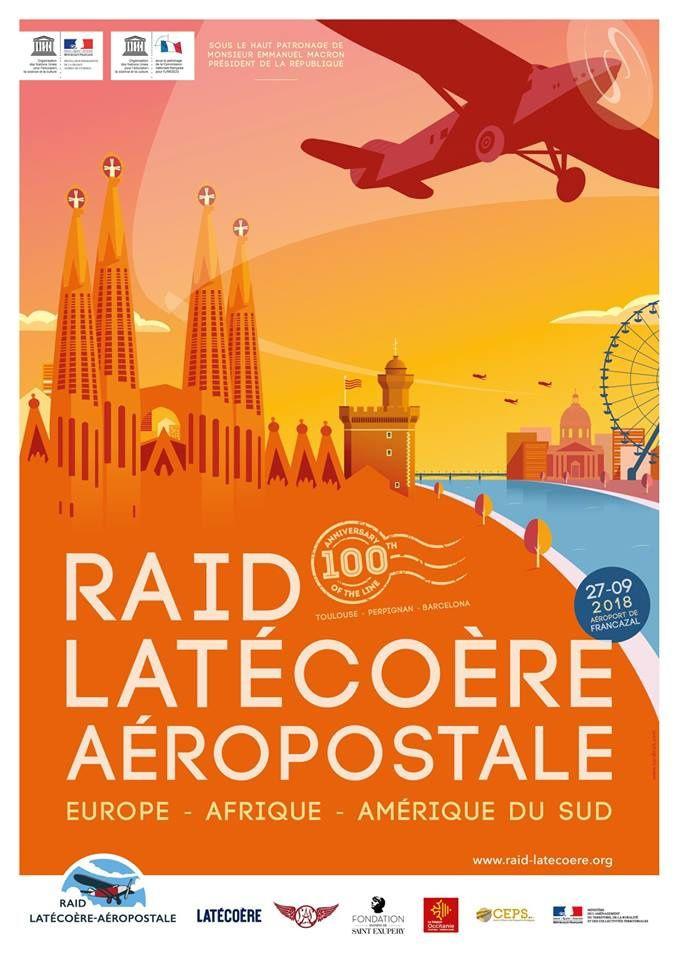 1918 / 2018 Commémoration du Centenaire du 1er vol Latécoère Toulouse / Barcelone