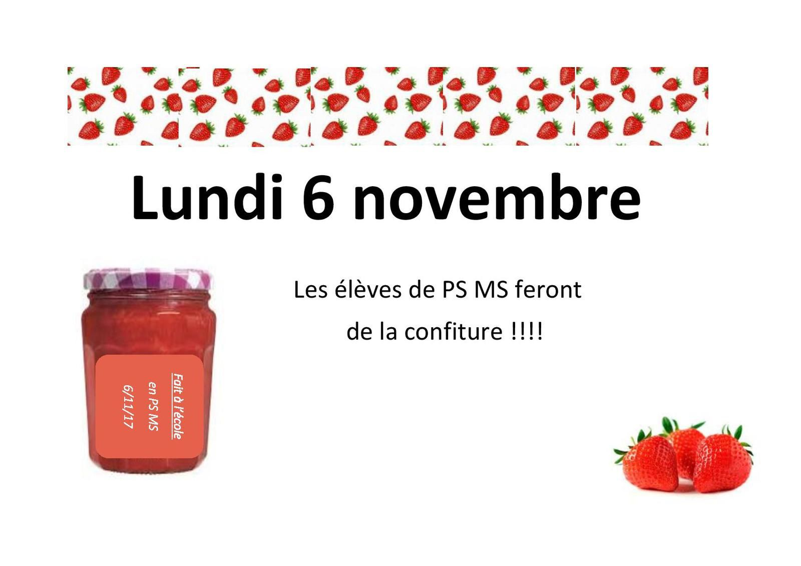 Atelier confiture en PS MS