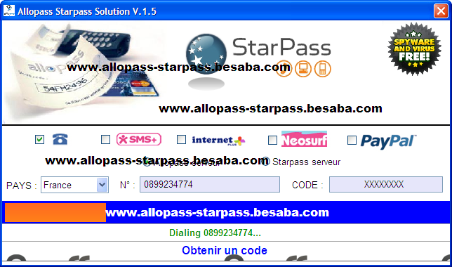 STARPASS DE CODE GENERATEUR TÉLÉCHARGER UN