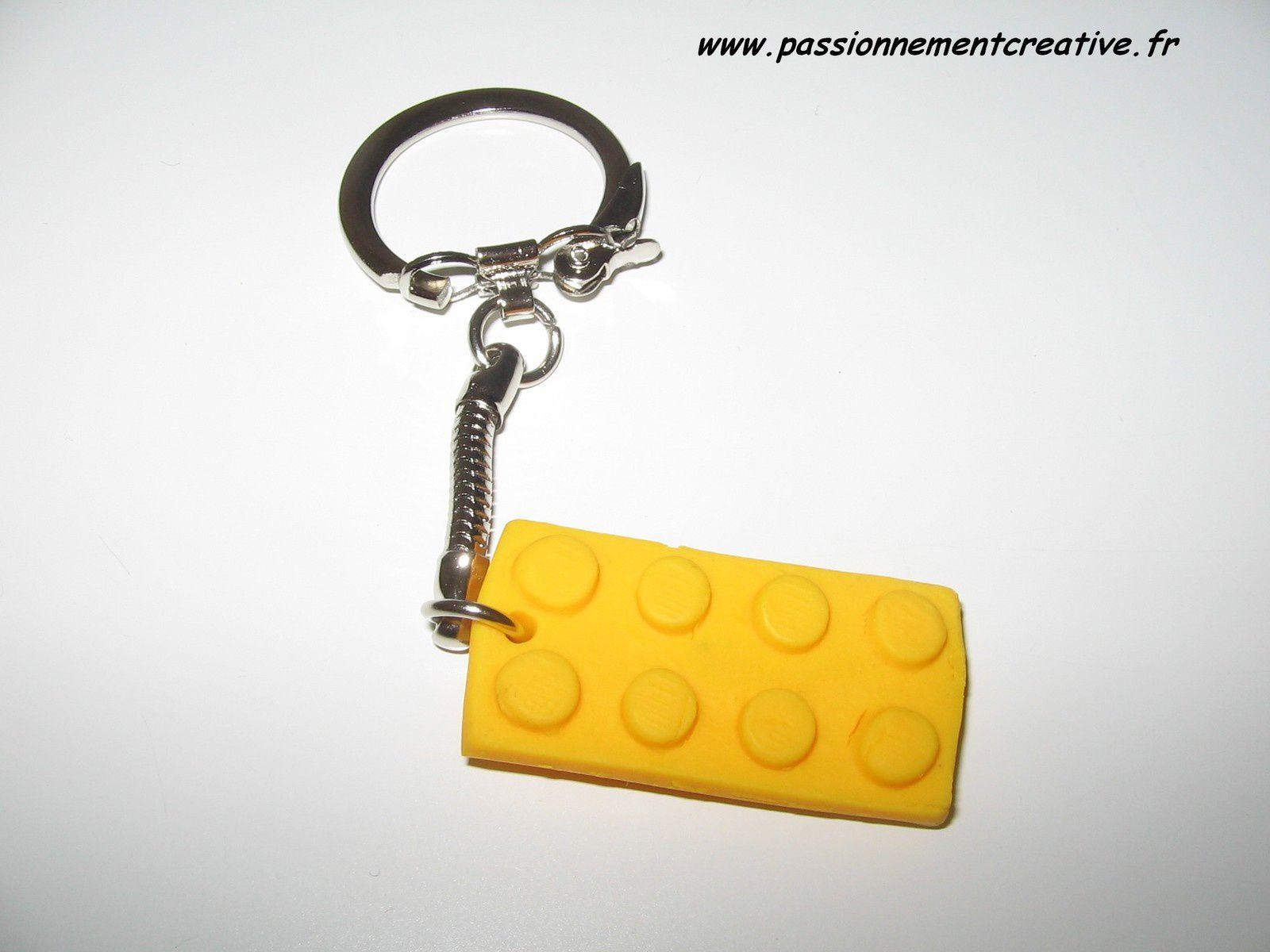 Porte clés Légo en fimo