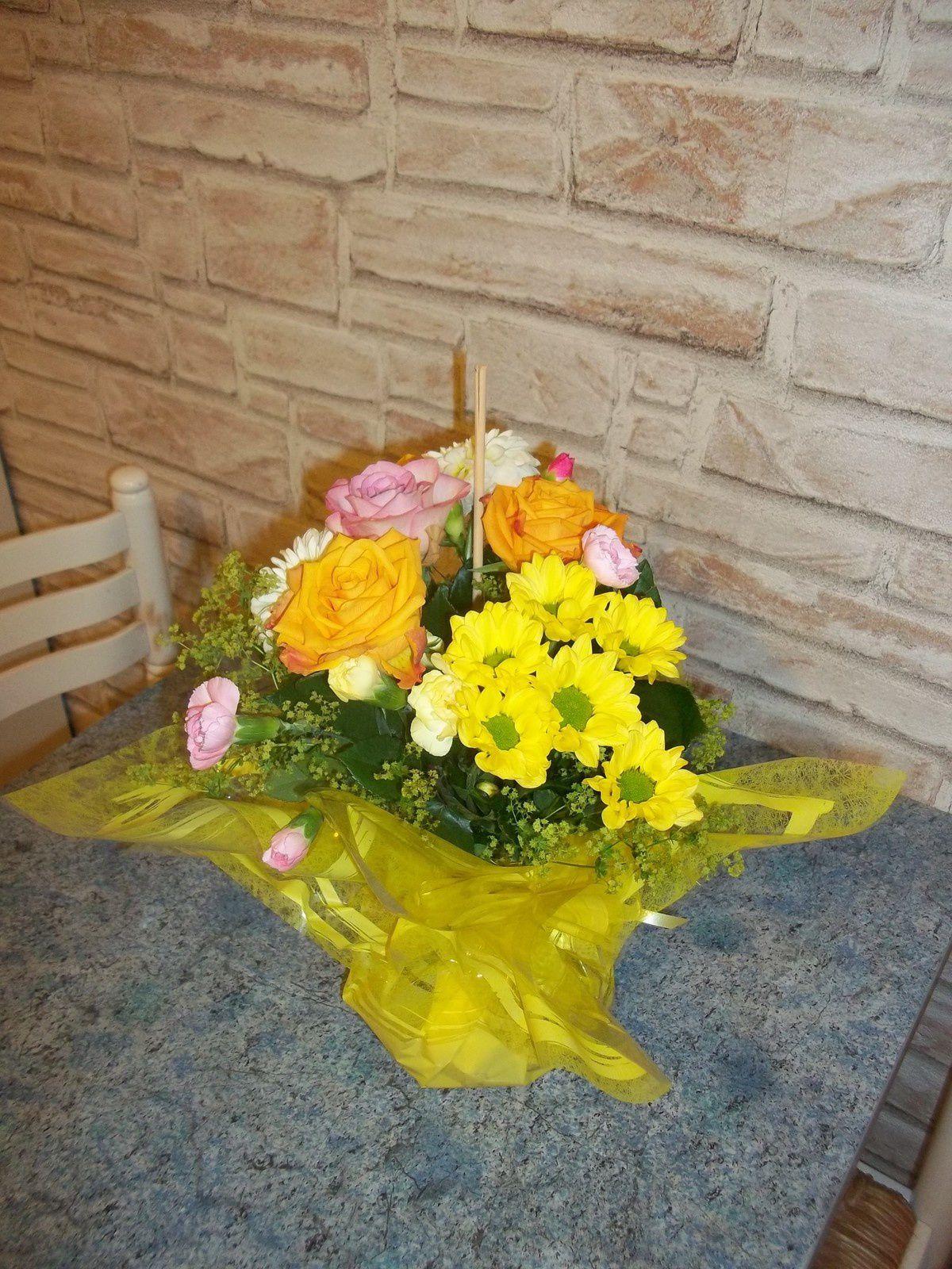 Des fleurs pour mon anniversaire .....
