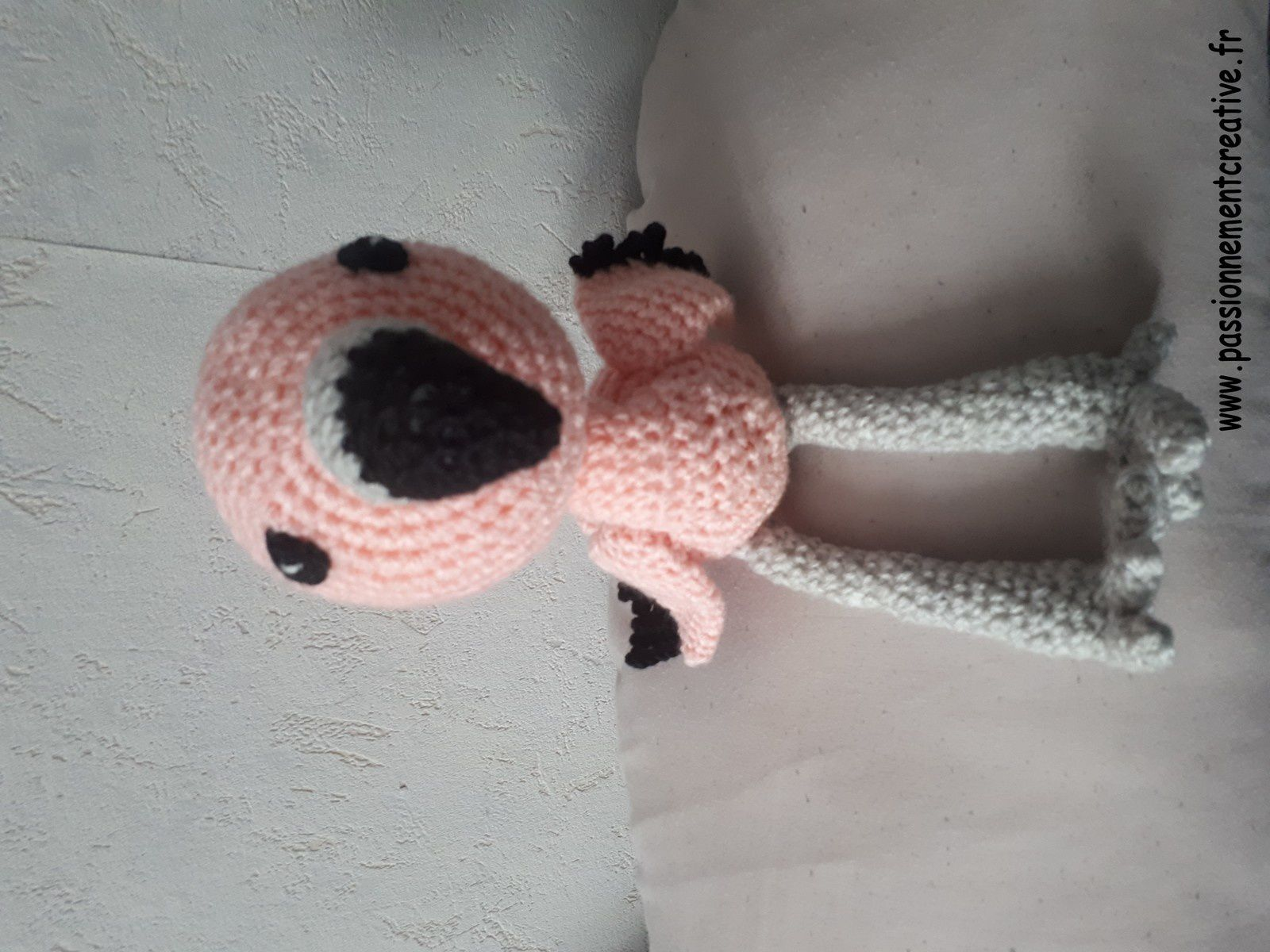 Flamant rose en crochet