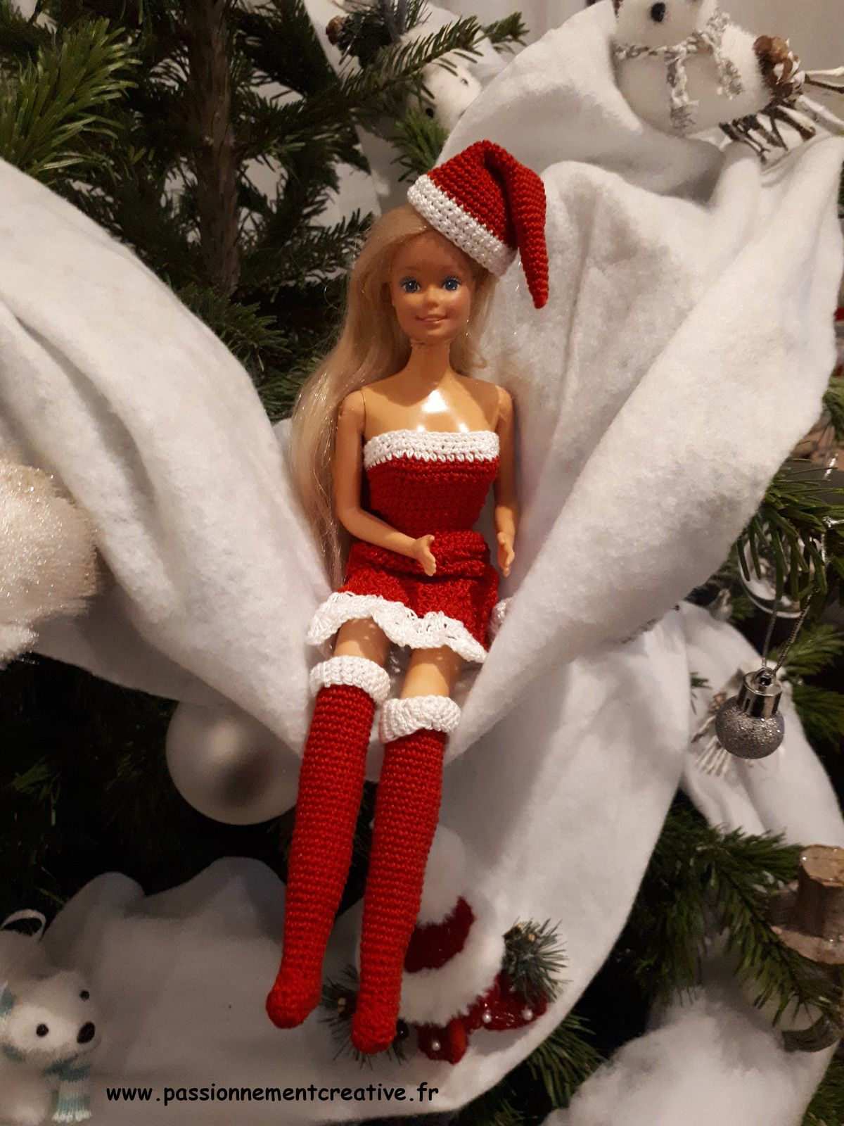 Tutoriel crochet - Barbie Noël 2019