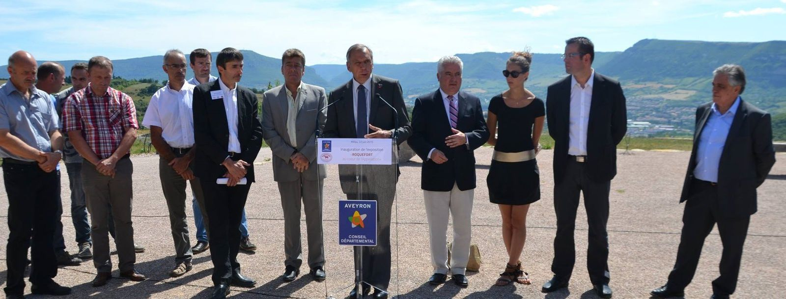 Inauguration de l'expo sur l'Aire de Brocuejouls