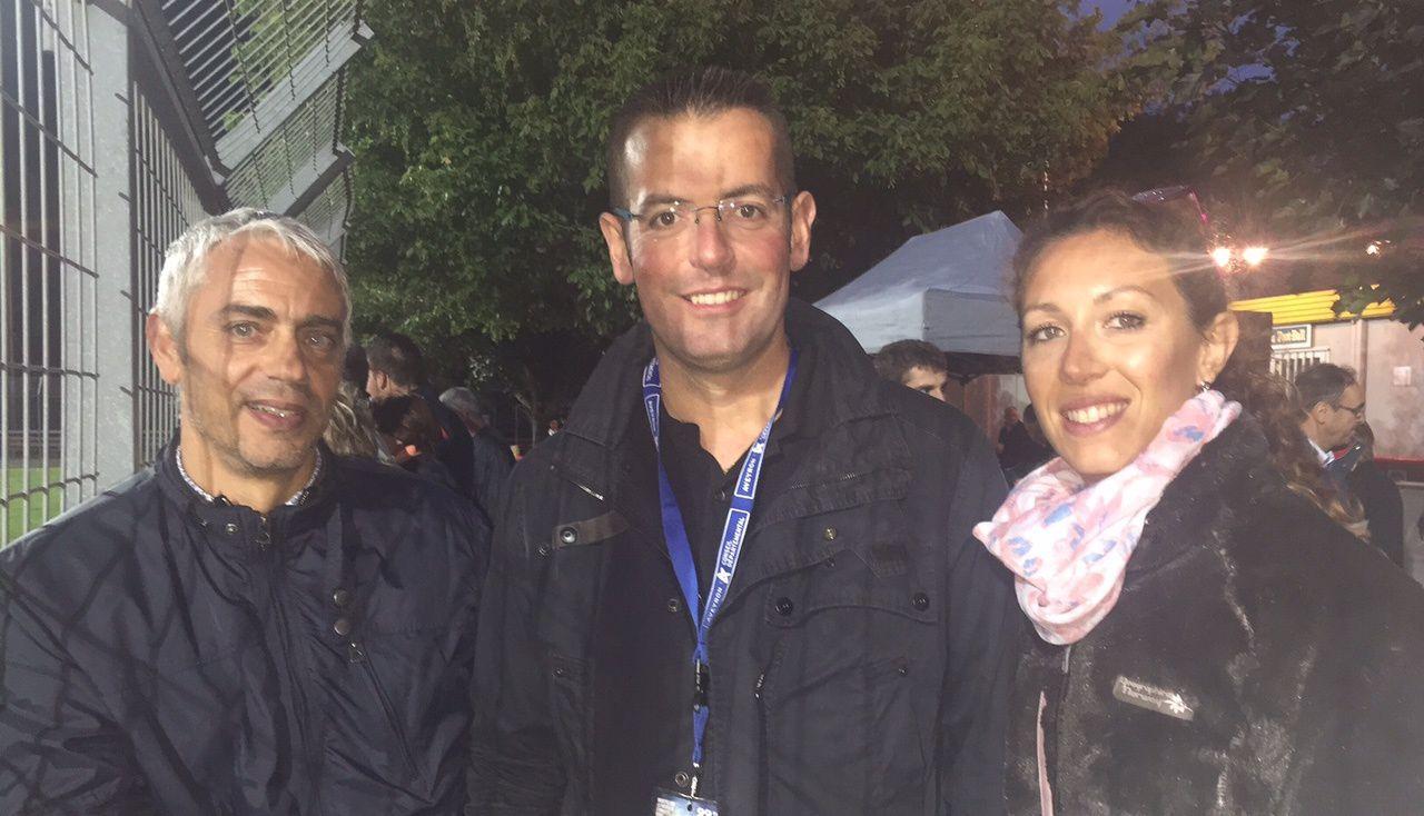 Sébastien David et Emilie Gral, accompagnés de maire de notre canton, et d'amis vabrais