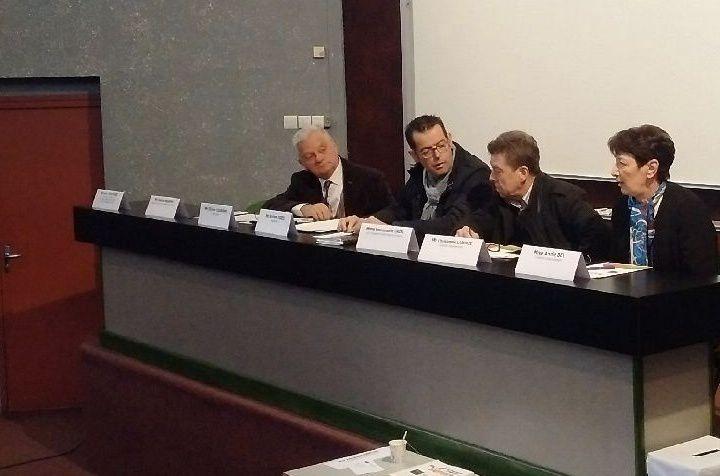Assemblée générale de Valrance, aux côtes du président du conseil d'administration Robert Fizes.