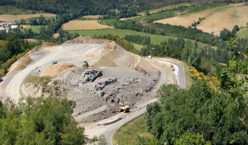 [Routes départementales - Canton de Saint-Affrique] Les travaux de la descente de Roquefort à Lauras avancent !