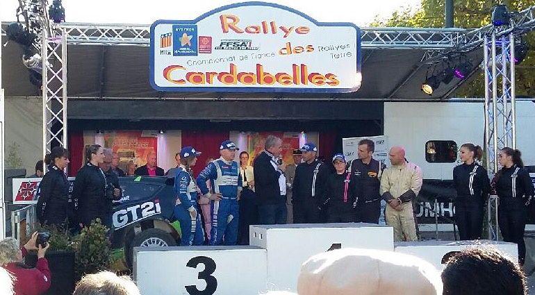 Emilie Gral, vice-présidente de la Commission Sport Culture au Conseil Départemental, était présente lors de la remise des prix du Rallye des Cardabelles, dont le département est partenaire.