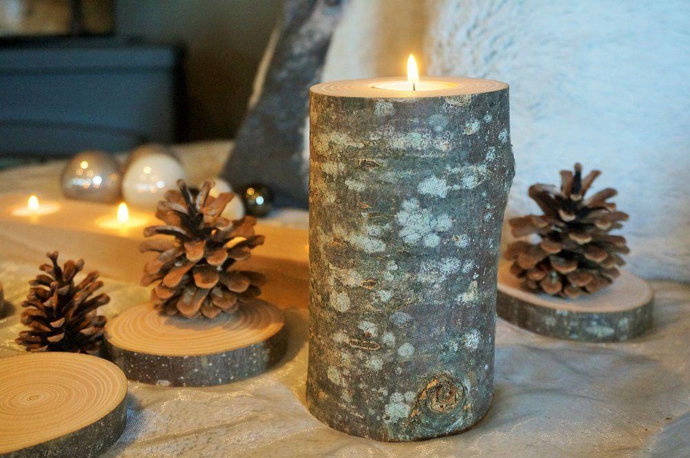Tout pour un Noël réussi : déco en bois brut