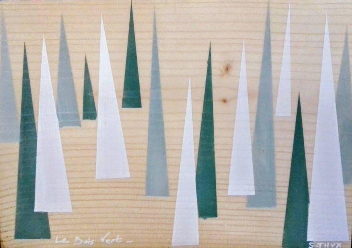 Tableau minimaliste sur bois - collection Landscape.