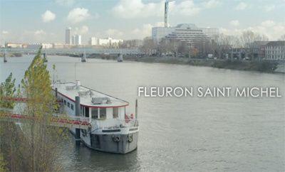 Sur la Seine à Paris, la péniche Fleuron de l'Ordre de Malte qui accueille des SDF