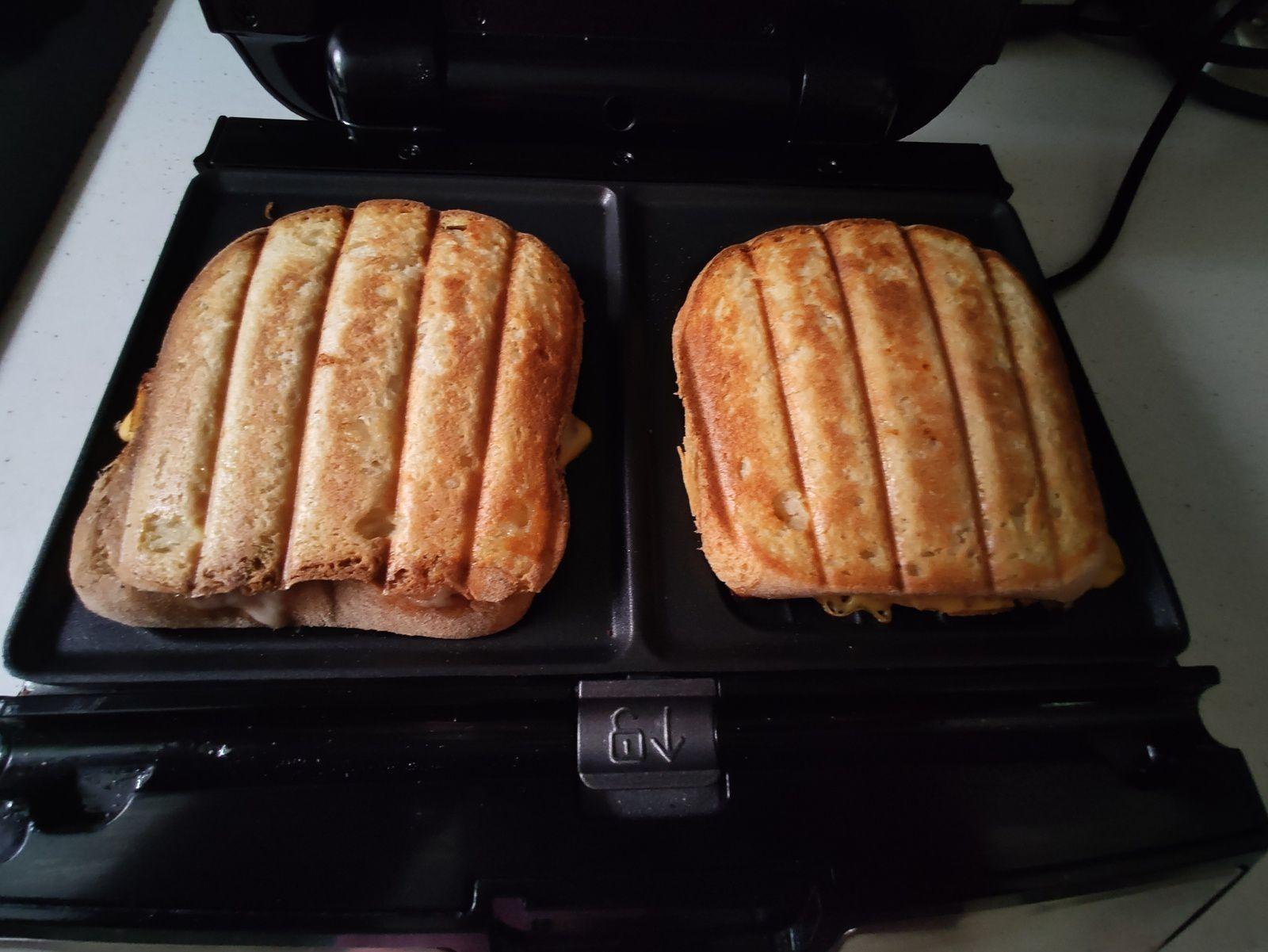 Mes croques Monsieurs sans gluten au chèvre jambon Italien tomates séchées