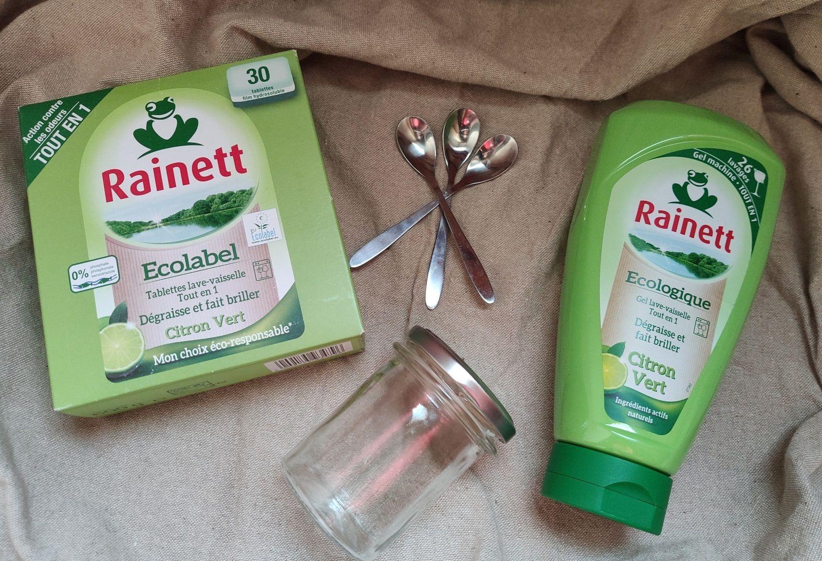 La gamme nettoyants pour lave-vaisselle de chez Rainett.