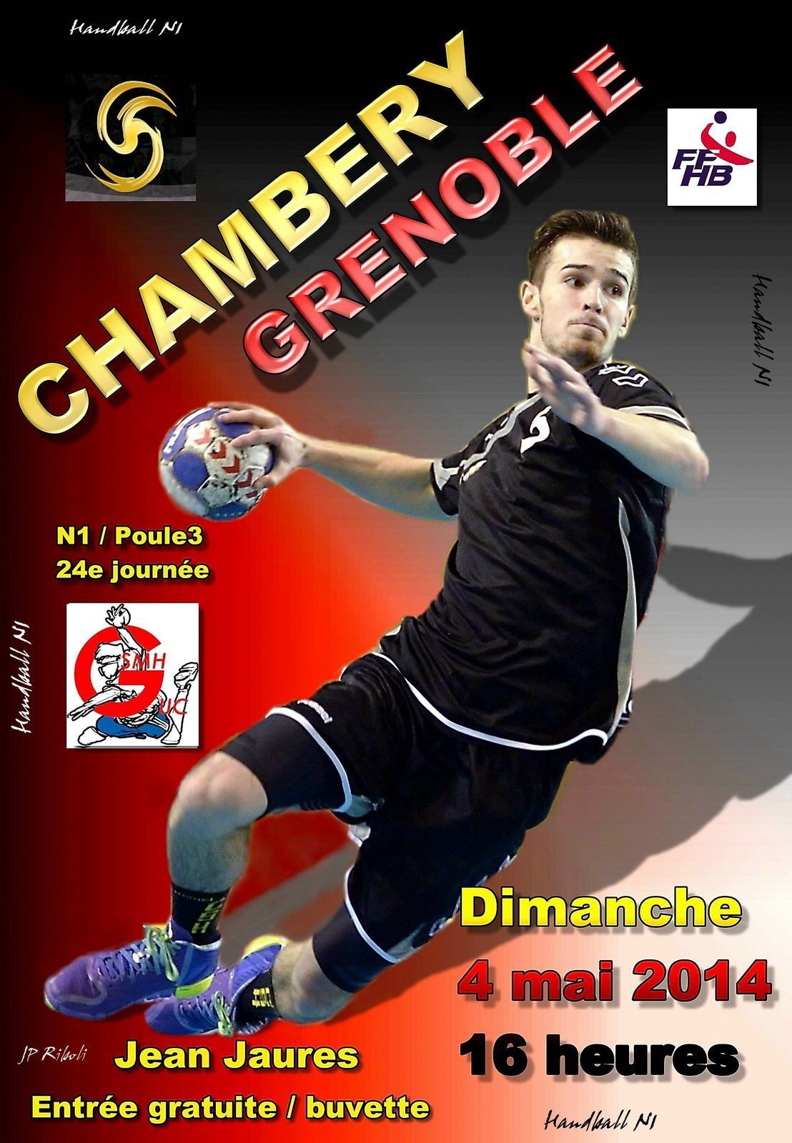 N1 CHAMBERY2 recoit GRENOBLE dimanche 4 mai à 16 heures