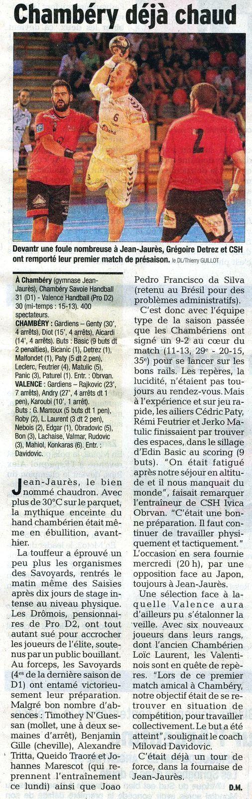 Dauphiné Libéré du dimanche 9 août 2015 / David Magnat
