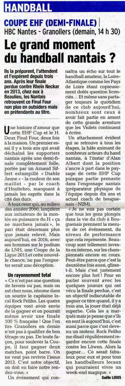 Le grand moment du handball Nantais ??