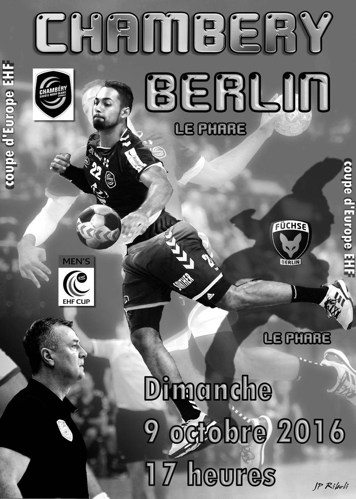 Le diaporama photos du match EHF CHAMBERY - BERLIN 09102016