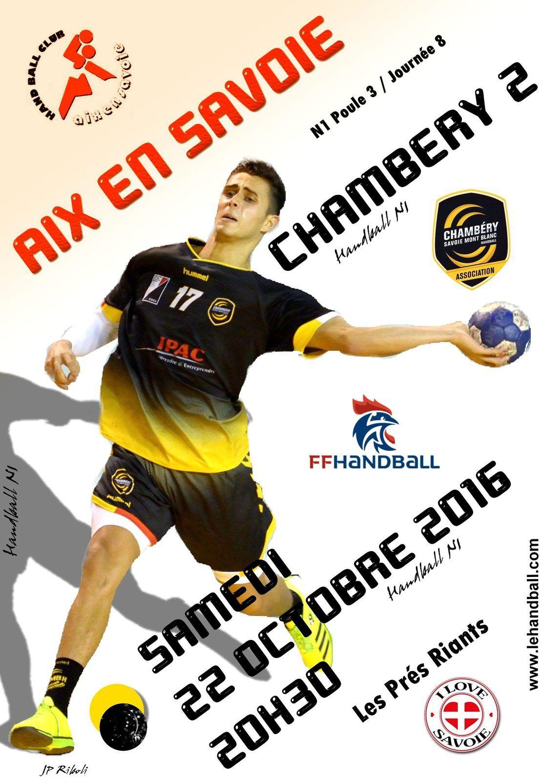 CHAMBERY / les matches du wek-end 22 et 23 octobre 2016