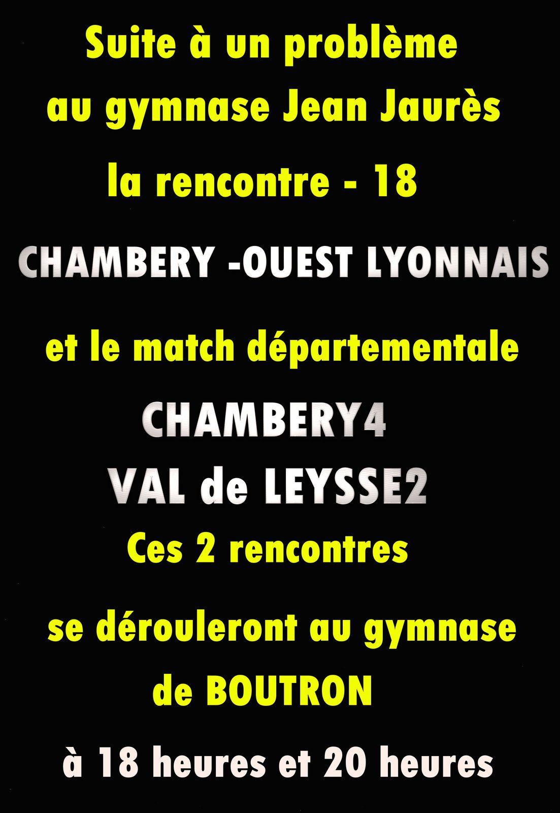 Suite à un problème le gymnase Jean Jaures ne seras pas utilisable le samedi 22 octobre