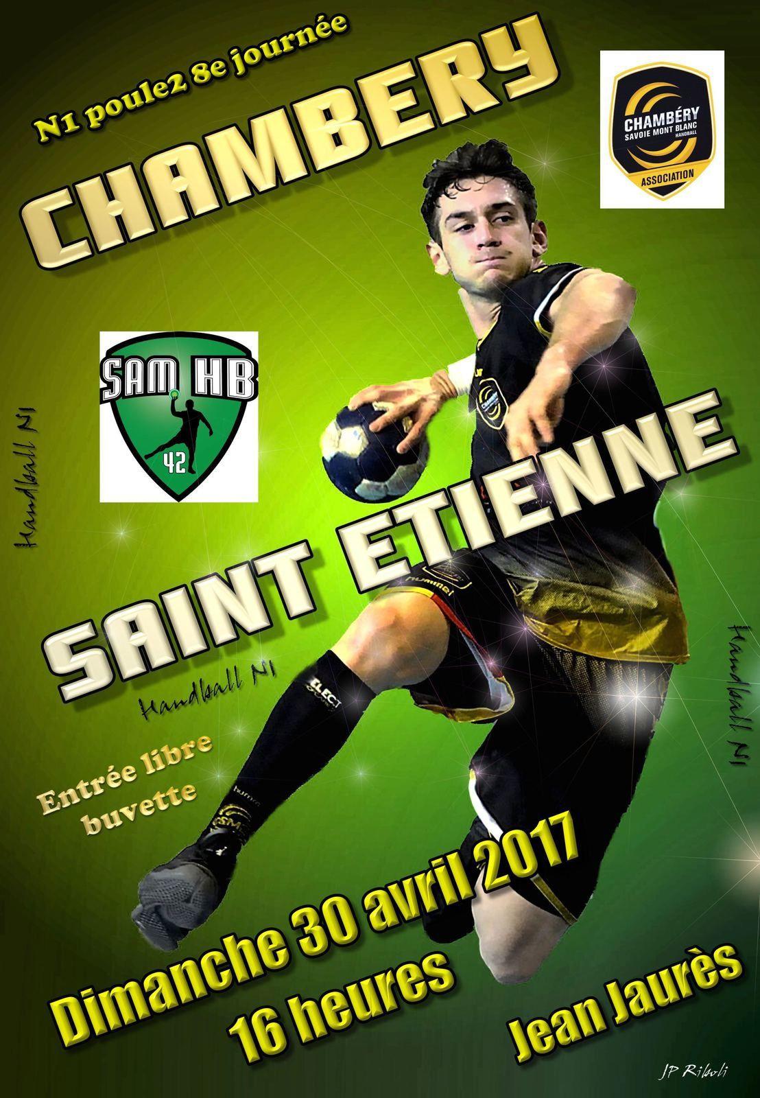 N1 CHAMBERY2 reçoit SAINT-ETIENNE dimanche 30 avril à Jean Jaurès