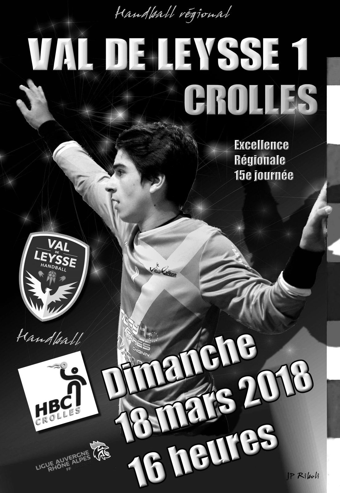 Le diaporama des photos en Noir et Blanc match VAL DE LEYSSE - CROLLES 18 mars 2018