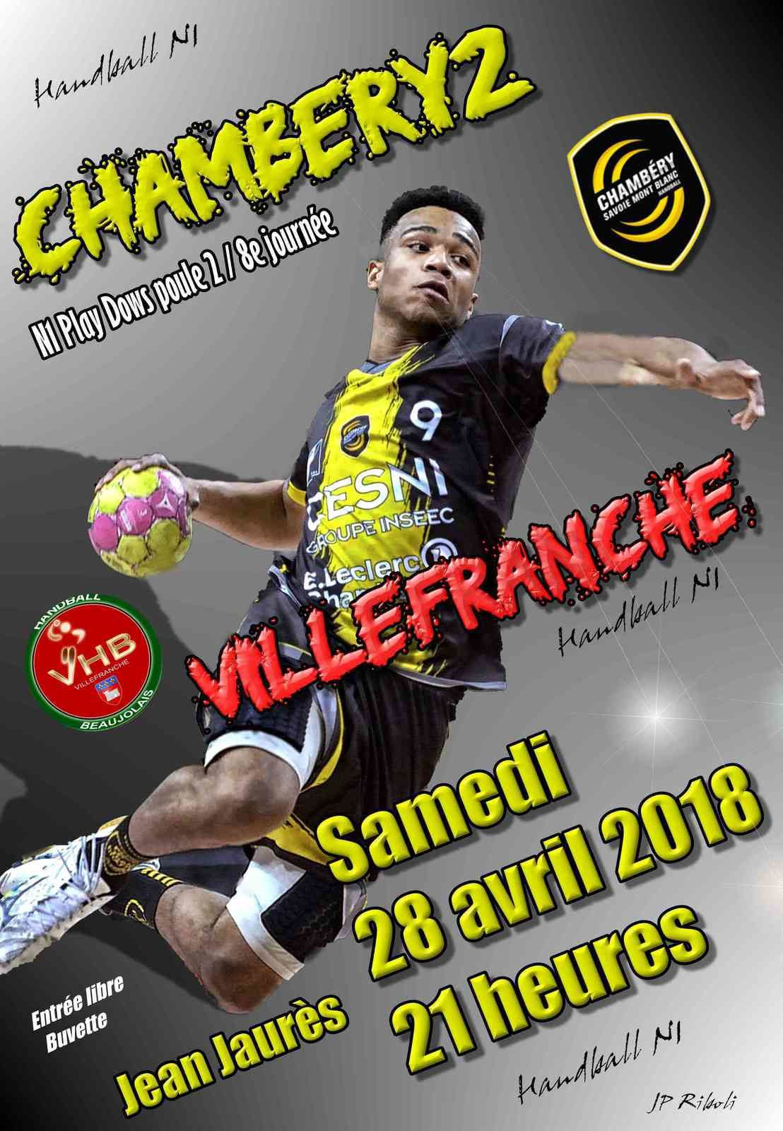 CHAMBERY les matches du week-end 28 et 29 avril 2018