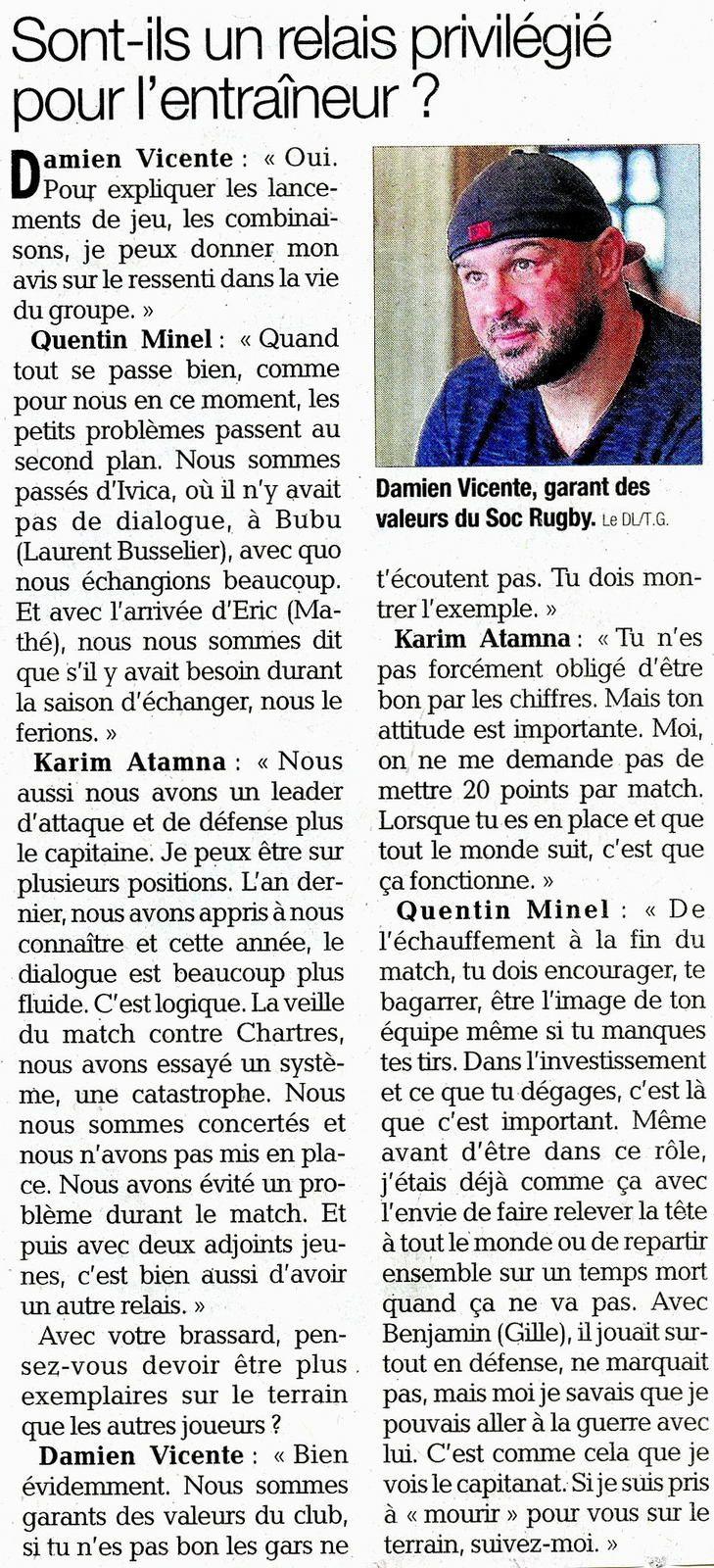 Trois capitaines réunis article du Dauphiné-Libéré