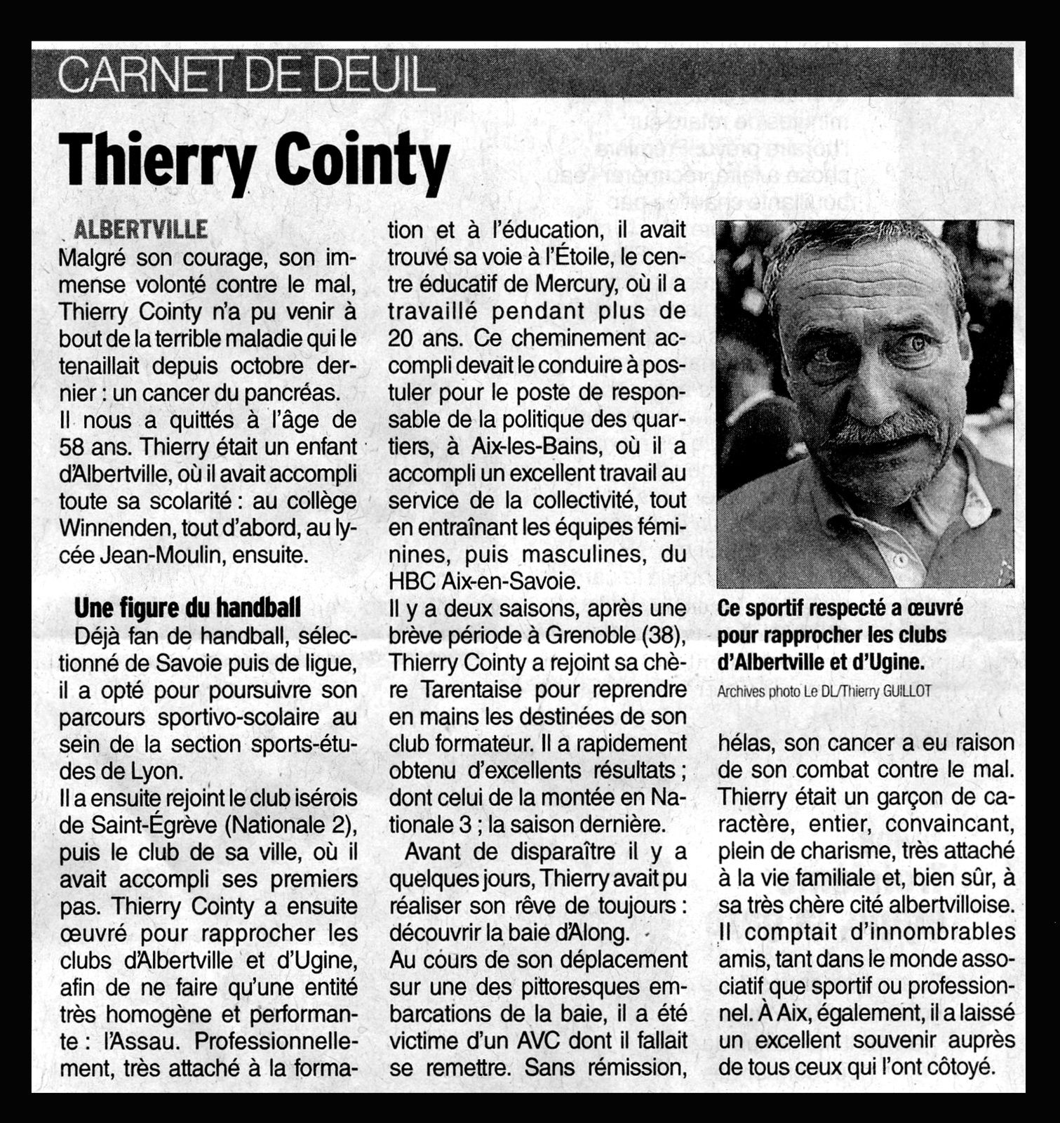 Thierry COINTY nous a quitté... !