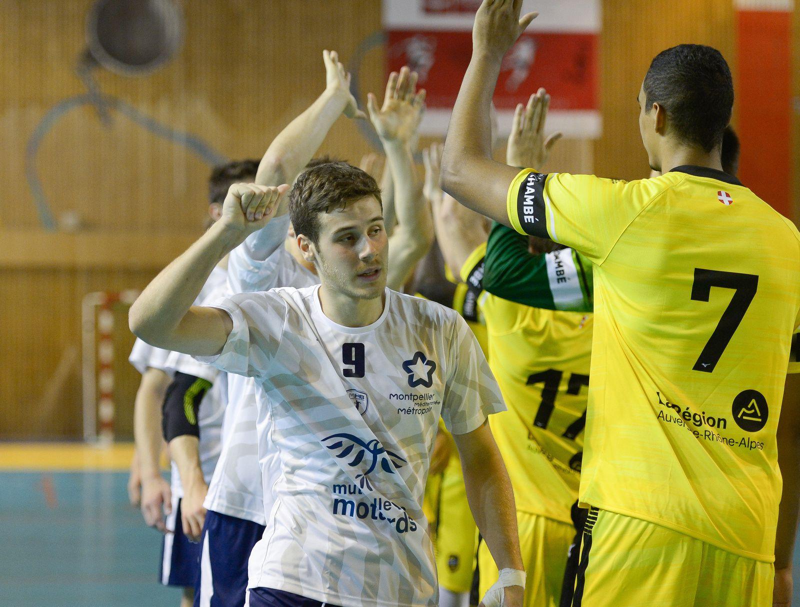 N1M La victoire pour CHAMBERY2 contre MONTPELLIER2 samedi 5 octobre, les photos du match