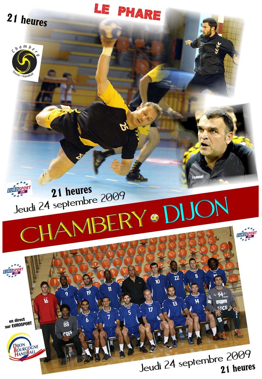 CHAMBERY et le PHARE.  Nostalgie les affiches des matches saison 2009 - 2010