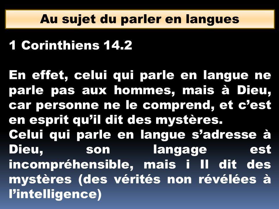 Qu'est-ce que le parler en langues ? – Partie 8