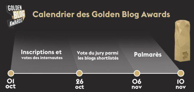 Calendrier Golden Blog Awards 2015   DR