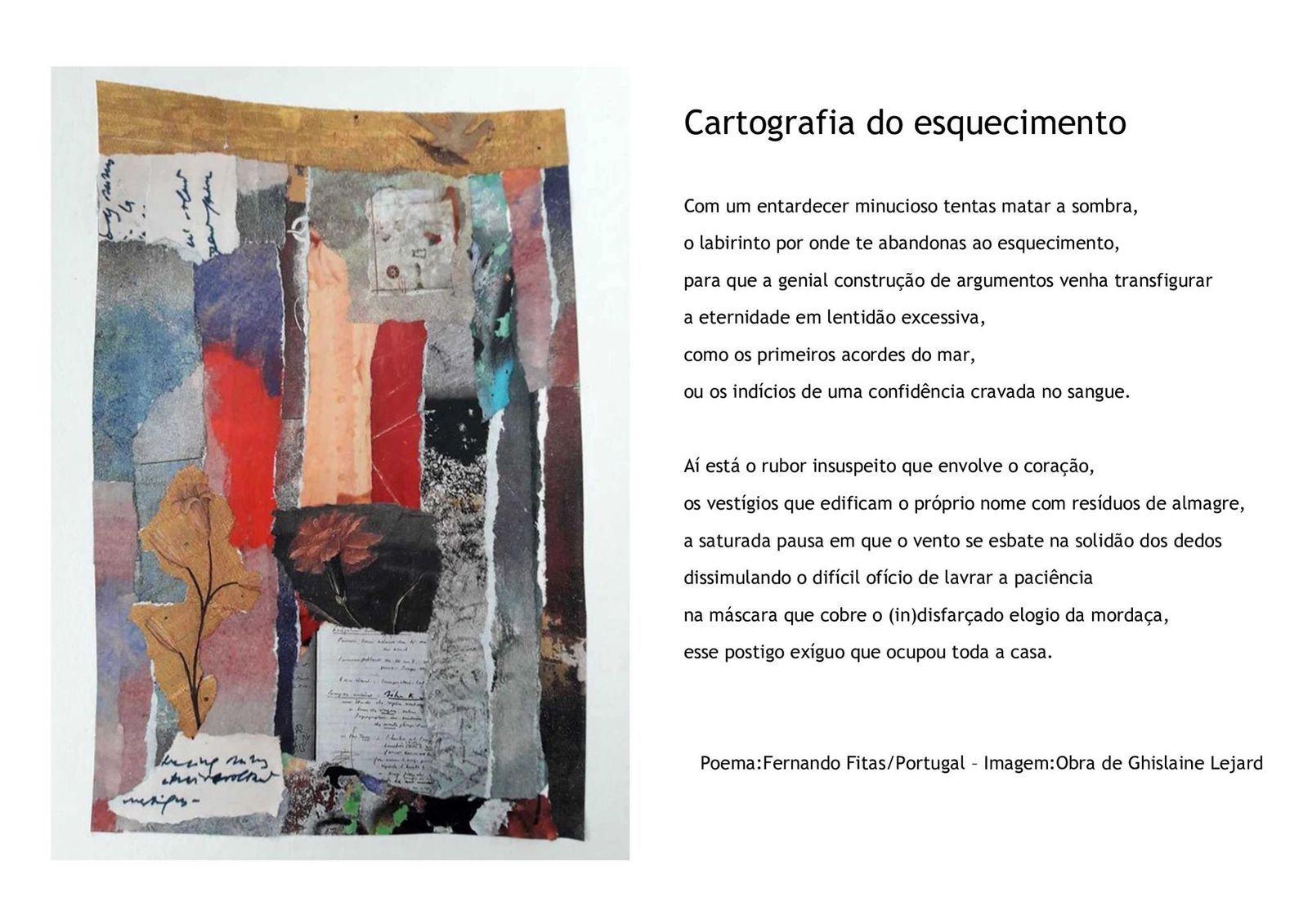 Poème + collage : Fernando Fitas. Ghislaine Lejard - DR