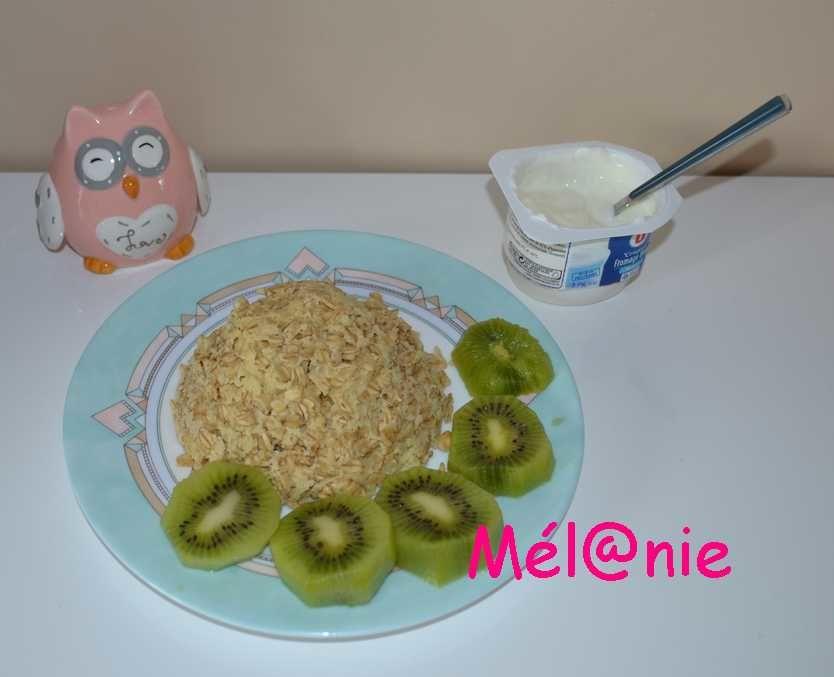 Bowl cake pomme kiwi à la cannelle